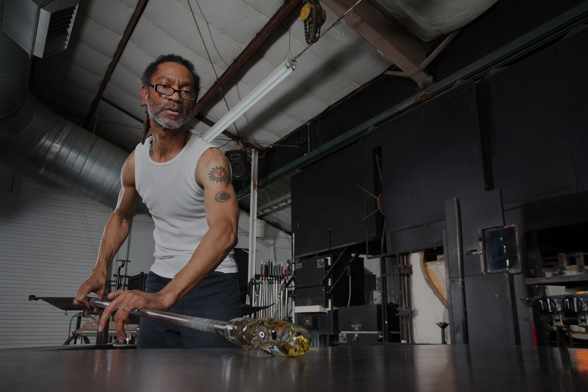 black business owner - glass blower